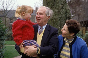 Toddler with grandparents