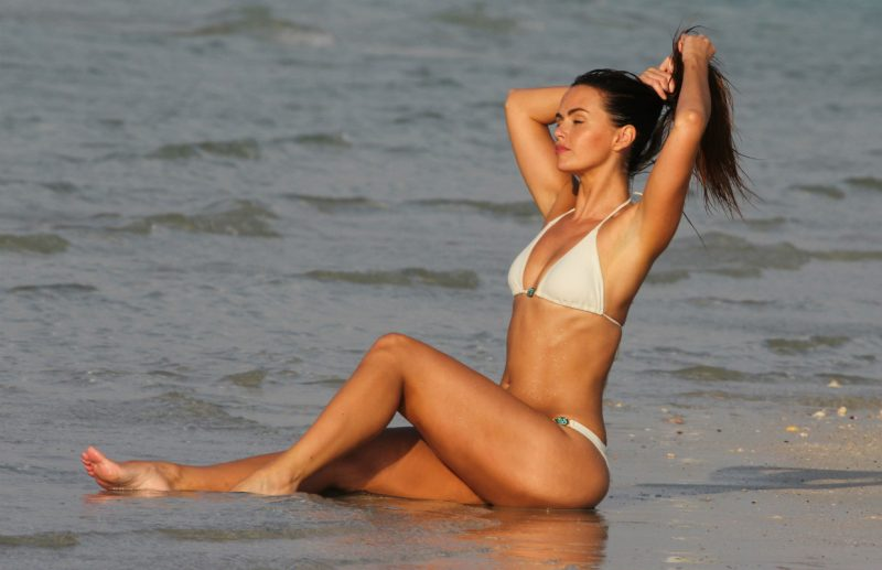 Jennifer Metcalfe in the sea
